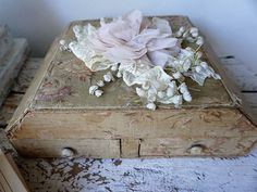 French antique box shabby cottage chic faded by AnitaSperoDesign