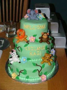 Jungle Baby Shower By jhay on CakeCentral.com