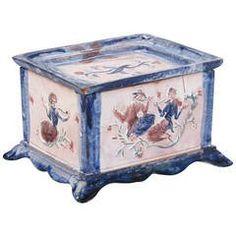 """Ceramic Tobacco Box """"K 8016"""" by Vally Wieselthier for Wiener Werkstätte, 1922"""