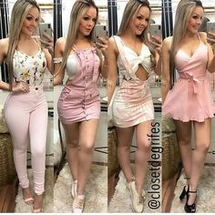 Looks ou 4 amores? Skater Girl Outfits, Hot Outfits, Casual Fall Outfits, Cute Summer Outfits, Cute Fashion, Girl Fashion, Fashion Outfits, Womens Fashion, Parisian Fashion