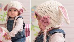 Sweet Crocheted Bunny Hat [FREE Crochet Pattern]