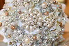 Esty: Brooch Bridal Bouquet