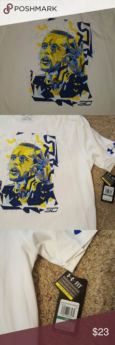 Under Armor NWT men's crew neck tshirt size large Under Armor NWT men's tshirt size large white with Steph Curry  design on front PERFECT MATCH TO JORDAN JACKET IN PIC 4 GREAT GIFT FOR A GOLDEN STATE WARRIORS FAN!!! Under Armour Shirts Tees - Short Sleeve