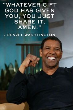 D Amen, Denzel Washington! Denzel shared more of his optimism in this interview on The Queen Latifah Show. Wisdom Quotes, True Quotes, Great Quotes, Quotes To Live By, Motivational Quotes, Inspirational Quotes, People Quotes, Movie Quotes, Qoutes