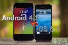 Comparación entre las funciones de Android 4.2 (Jelly Bean) e iOS 6.1