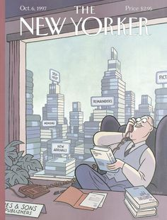 "The New Yorker - Monday, October 6, 1997 - Issue # 3770 - Vol. 73 - N° 30 - Cover ""Tall Stories"" by ""Max"" - Francesc Capdevila"