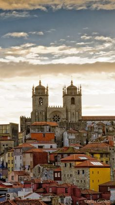 """View of Lisbon's Cathedral """"Sé"""". Places In Portugal, Spain And Portugal, Porto City, Sea Activities, Douro, Sunny Beach, Most Beautiful Cities, Best Cities, Great Places"""