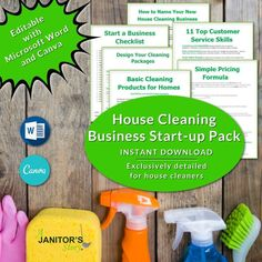 You get starting a house cleaning business checklist, how much to charge for housecleaning template, cleaning supply list and other things needed to start a cleaning business from scratch. Each form and template is exclusively designed for Building Cleaning Services, Professional Cleaning Services, List Template, Templates, Maid Cleaning Service, Naming Your Business, House Cleaning Checklist, Business Articles, Cleaning Business