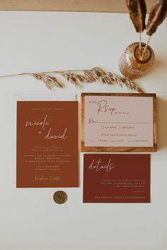 Wedding Invitation Inspiration, Wedding Invitation Suite, Wedding Stationary, Modern Wedding Invitations, Bohemian Wedding Stationery, Wedding Inspiration, Carton Invitation, Invitation Cards, Event Invitations