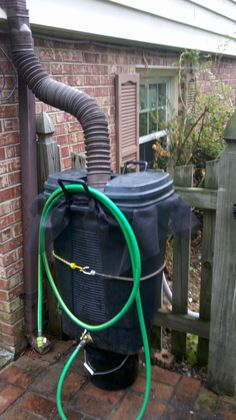 Rain Barrel - primitive, but it works. | The Jenkins Family