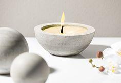 Citronella Kerze aus Kreativ Beton