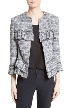 Helene Berman Frill Tweed Jacket