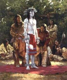 The Sun Dance was outlawed in the latter part of the nineteenth century, partly because certain tribes inflicted self-torture as part of the ceremony, which settlers found gruesome, and partially as part of a grand attempt to westernize Indians by forbidding them to engage in their ceremonies and speak their own language.