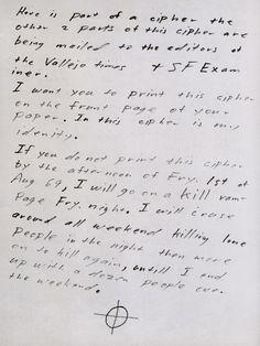 Zodiac-July1969 - Zodiac Killer letters -