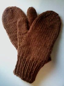 Simple Easy Mittens Size S Kids, (M /Teen or Womens, L/ Mens) Do a gauge swatch to figure how many stitches go around your palm above thumb. gauge: Using or needles (worsted or… Babyhutmuster geben frei JIT Simple Easy Mittens Quick Knitting Projects, Easy Knitting Patterns, Knitting For Kids, Free Knitting, Loom Knitting, Knitting For Charity, Knitting Sweaters, Finger Knitting, Knitting Tutorials