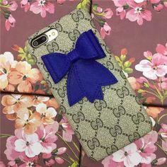 ギャル系 アイフォン 7s/6splus刺繍ブランドグッチ 蝶結びリボンGucci iPhone8