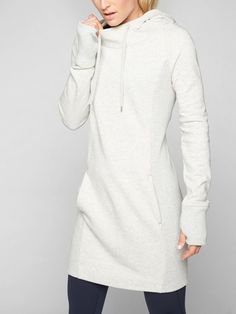 Hayes Hoodie Dress | Athleta. In a color, not white