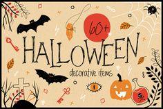 Halloween! Spooky doodles & Patterns by Julia_Meise on @creativemarket