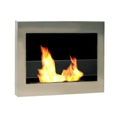 SoHo Stainless Steel fireplace