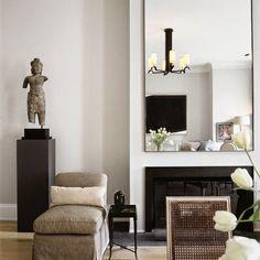 Soft neutrals, clean lines, a homey modern interior.