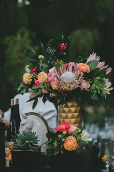 Desert Wedding Photos - Lulu and Georgia Decor Wedding Themes, Wedding Designs, Wedding Styles, Wedding Photos, Geometric Wedding, Floral Wedding, Wedding Flowers, Protea Wedding, Deco Floral