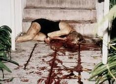 Nicole Simpson Crime Scene | Nicole's wounds as seen at the morgue