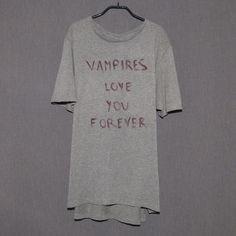 #itstrue #vampiresloveyouforever  #vampiresloveyouforwhatsinsideofyou #vampiressuck #itsredwinenotblood Vampire Love, Love You Forever, Archive, T Shirts For Women, Instagram Posts, Collection, Tops, Fashion, Moda