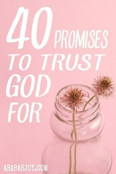 What would happen if you really believed God? Here are 40 promises and a simple method to use for trusting God. Try it for 40 days and see…