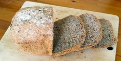 sliced, home made seeded bread