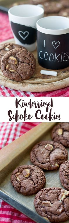 Kinderriegel Schoko Cookies backen - leckeres Cookies Rezept