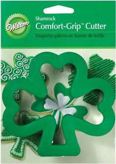 Wilton Shamrock ComfortGrip Cookie Cutter -- You can find out more details at the link of the image. (This is an affiliate link) #CookieCutters