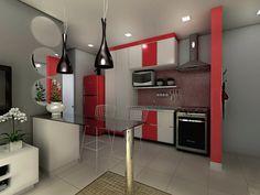 Ótima solução para ambientes pequenos, a cozinha do tipo americana é um convite à praticidade. É a aposta de grande parte das novas casas e apartamentos. C