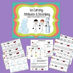 Speech Room News: Ice Carving-Describing Attributes Activity. Pinned by SOS Inc. Resources. Follow all our boards at pinterest.com/sostherapy for therapy resources.