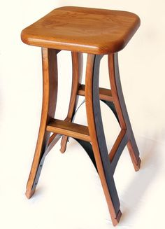 Hand Made Eiffel, barstool recycled oak wine barrel high stool by Stil Novo Design | CustomMade.com