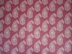 Clarke & Clarke Harriet Cotton Fabric F0623/03 Mulberry - Curtains & Light Upholstery - The Millshop Online