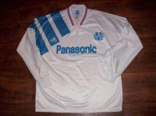 1991 1992 Olympique Marseille L/s Home Football Shirt Adults Medium
