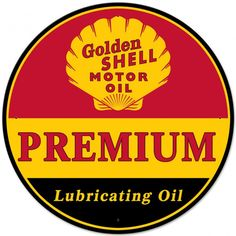 Golden Shell Premium Motor Oil Sign 28 x 28 Vintage Replica USA Made Steel Vintage Style Retro Gas Oil Garage Art Wall Decor  SHL324 by HomeDecorGarageArt on Etsy