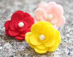 How To Make a Felt Flower by Repeat Crafter Me.