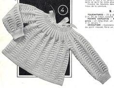 POUR OBTENIR LES EXPLICATIONS CLIQUER SUR LE LIEN SUIVANT: Brassière au point fantaisie Extrait de tricotons sa layette N° 51 par La malle ô trésor de Sylvie
