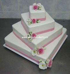 Svatební dorty » čtvercové svatební dorty