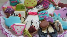 itsy bitsy Alice in wonderland Cookies-bite size Alice in wonderland cookies -Alice in wonderland cookie image-36 pieces