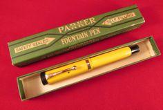 Rare Parker Mandarin Yellow Duofold Pen.
