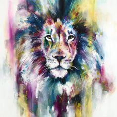 Katy Jade Dobson Art 'The Leader' - Lion oil painting