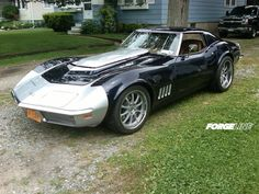 This 1969 Corvette Stingray is powered by a 550+ HP LS7 and fitted with Forgeline ZX3P wheels finished with Silver centers, Polished outers, and exposed hardware. See more at: http://www.forgeline.com/customer_gallery_view.php?cvk=790