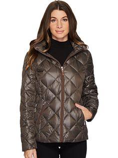 LAUREN Ralph Lauren Short Diamond Quilt Packable with Hood