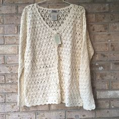 NWT Northern Reflections Crocheted Overtop - Large NWT Northern Reflections Crocheted Overtop - Large. Smoke free home. Northern Reflections Sweaters Cardigans
