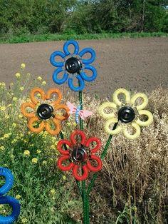 Trampoline spring flowers #backyardtrampolineawesome