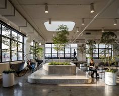 With approx. 100,000 SF, the new Squarespace Headquarters span three full floors, a roof deck, and an expansive ground-floor lobby/event space, in the histor...