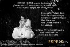 ESPEJO NEGRO / Danza Butoh / Miércoles y jueves 20 hrs. hasta el 9 de octubre