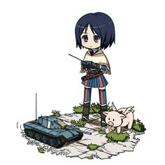Tags: Anime, Pig, Valkyria Chronicles, Isara Gunther, 〉 W 〈, Hans (Valkyria Chronicles)